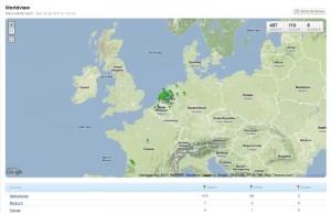 CreateSend locatiestatistieken