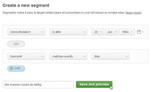 E-mailmarketing segmenten aanmaken